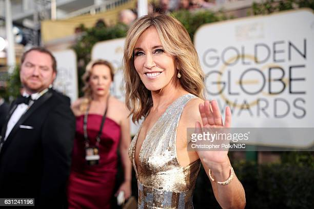 74th ANNUAL GOLDEN GLOBE AWARDS Pictured Actress Felicity Huffman arrives to the 74th Annual Golden Globe Awards held at the Beverly Hilton Hotel on...