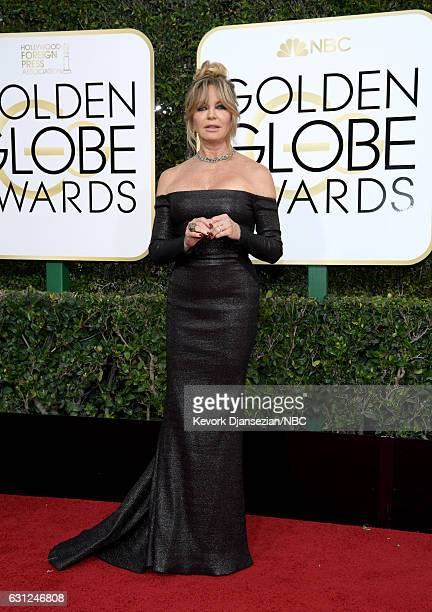 74th ANNUAL GOLDEN GLOBE AWARDS -- Pictured: Actress Goldie Hawn arrives to the 74th Annual Golden Globe Awards held at the Beverly Hilton Hotel on...