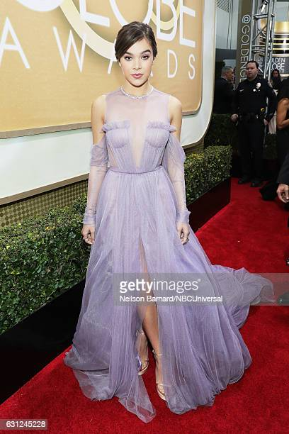 74th ANNUAL GOLDEN GLOBE AWARDS Pictured Actress Hailee Steinfeld arrives to the 74th Annual Golden Globe Awards held at the Beverly Hilton Hotel on...