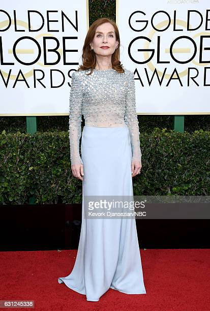 74th ANNUAL GOLDEN GLOBE AWARDS Pictured Actress Isabelle Huppert arrives to the 74th Annual Golden Globe Awards held at the Beverly Hilton Hotel on...