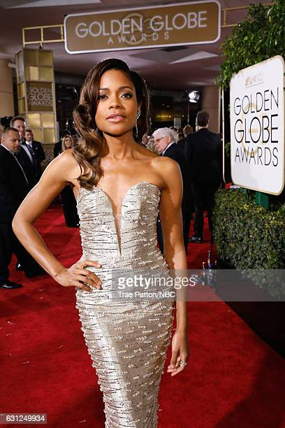 74th ANNUAL GOLDEN GLOBE AWARDS Pictured Actress Naomie Harris arrives to the 74th Annual Golden Globe Awards held at the Beverly Hilton Hotel on...