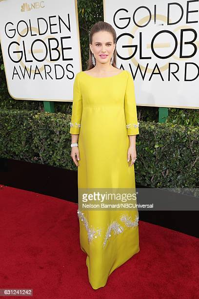 74th ANNUAL GOLDEN GLOBE AWARDS -- Pictured: Actress Natalie Portman arrives to the 74th Annual Golden Globe Awards held at the Beverly Hilton Hotel...