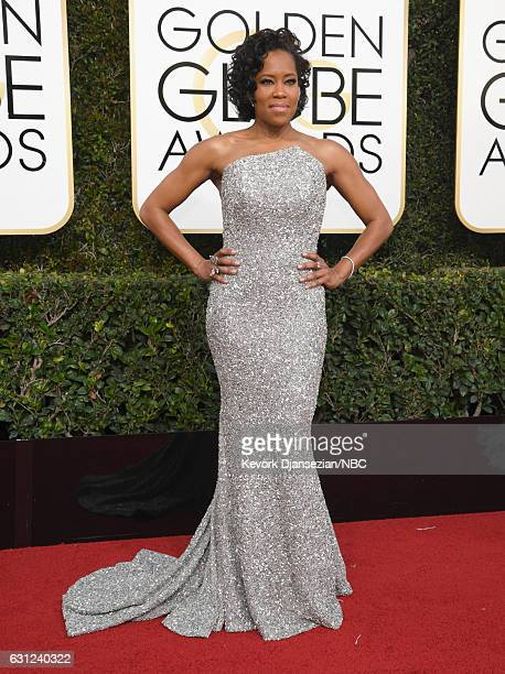 74th ANNUAL GOLDEN GLOBE AWARDS Pictured Actress Regina King arrives to the 74th Annual Golden Globe Awards held at the Beverly Hilton Hotel on...