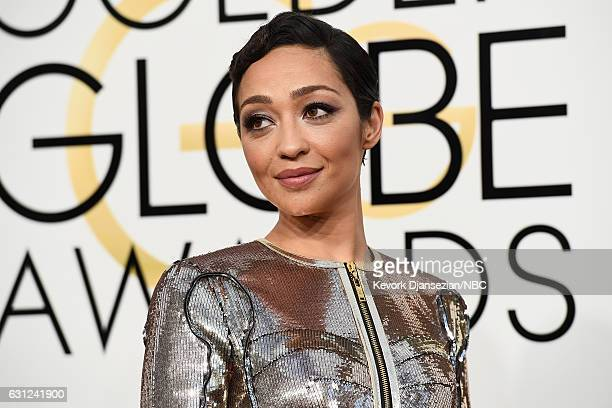 74th ANNUAL GOLDEN GLOBE AWARDS Pictured Actress Ruth Negga arrives to the 74th Annual Golden Globe Awards held at the Beverly Hilton Hotel on...