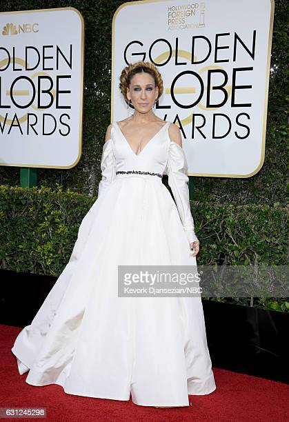 74th ANNUAL GOLDEN GLOBE AWARDS Pictured Actress Sarah Jessica Parker arrives to the 74th Annual Golden Globe Awards held at the Beverly Hilton Hotel...