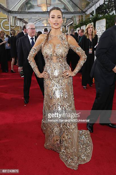 74th ANNUAL GOLDEN GLOBE AWARDS Pictured Actress Sofia Vergara arrives to the 74th Annual Golden Globe Awards held at the Beverly Hilton Hotel on...