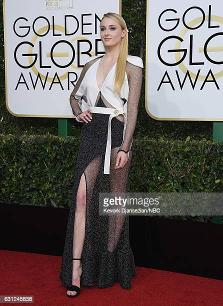 74th ANNUAL GOLDEN GLOBE AWARDS Pictured Actress Sophie Turner arrives to the 74th Annual Golden Globe Awards held at the Beverly Hilton Hotel on...