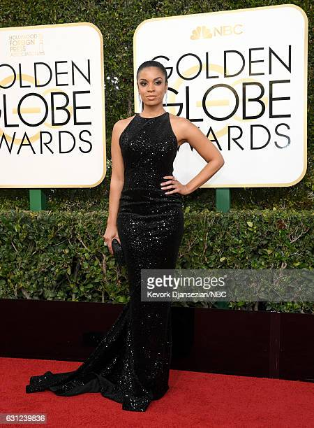 74th ANNUAL GOLDEN GLOBE AWARDS Pictured Actress Susan Kelechi Watson arrives to the 74th Annual Golden Globe Awards held at the Beverly Hilton Hotel...