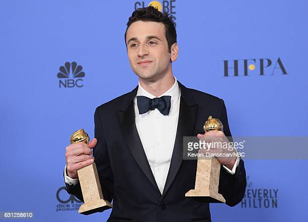 74th ANNUAL GOLDEN GLOBE AWARDS Pictured Composer Justin Hurwitz winner of Best Original Score for 'La La Land' poses in the press room at the 74th...