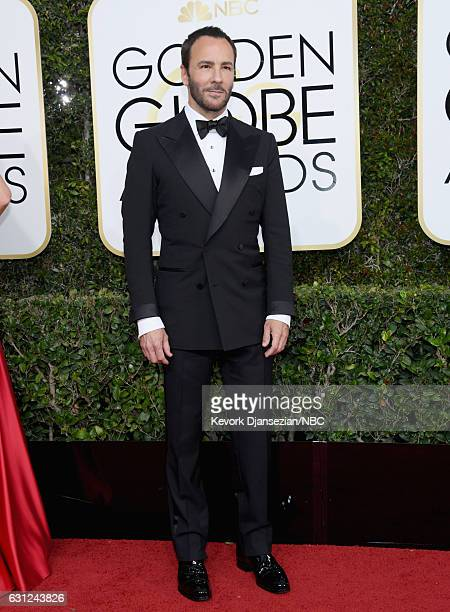 74th ANNUAL GOLDEN GLOBE AWARDS Pictured Designer/filmmaker Tom Ford arrives to the 74th Annual Golden Globe Awards held at the Beverly Hilton Hotel...