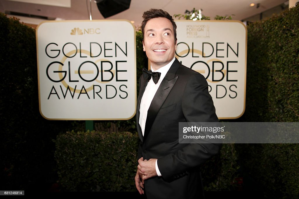 74th ANNUAL GOLDEN GLOBE AWARDS -- Pictured: Host Jimmy Fallon arrives to the 74th Annual Golden Globe Awards held at the Beverly Hilton Hotel on January 8, 2017.