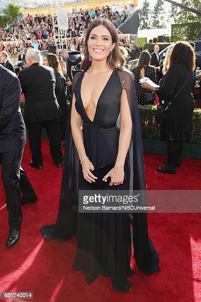 74th ANNUAL GOLDEN GLOBE AWARDS Pictured Mandy Moore arrives to the 74th Annual Golden Globe Awards held at the Beverly Hilton Hotel on January 8 2017