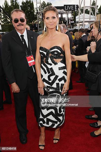 74th ANNUAL GOLDEN GLOBE AWARDS Pictured Model/TV personality Heidi Klum arrives to the 74th Annual Golden Globe Awards held at the Beverly Hilton...