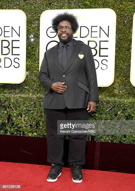 74th ANNUAL GOLDEN GLOBE AWARDS Pictured Musician Ahmir Khalib Thompson aka Questlove arrives to the 74th Annual Golden Globe Awards held at the...