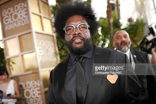 74th ANNUAL GOLDEN GLOBE AWARDS Pictured Musician Questlove arrives to the 74th Annual Golden Globe Awards held at the Beverly Hilton Hotel on...