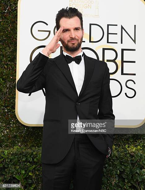 74th ANNUAL GOLDEN GLOBE AWARDS Pictured Producer Andrea Iervolino arrives to the 74th Annual Golden Globe Awards held at the Beverly Hilton Hotel on...