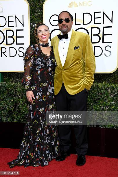 74th ANNUAL GOLDEN GLOBE AWARDS Pictured Producer Kenya Barris and Dr Rainbow EdwardsBarris arrive to the 74th Annual Golden Globe Awards held at the...