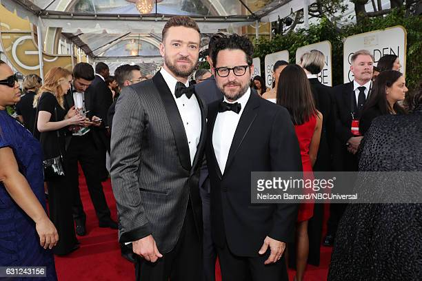 74th ANNUAL GOLDEN GLOBE AWARDS Pictured Recording artist Justin Timberlake and producer/director JJ Abrams arrive to the 74th Annual Golden Globe...