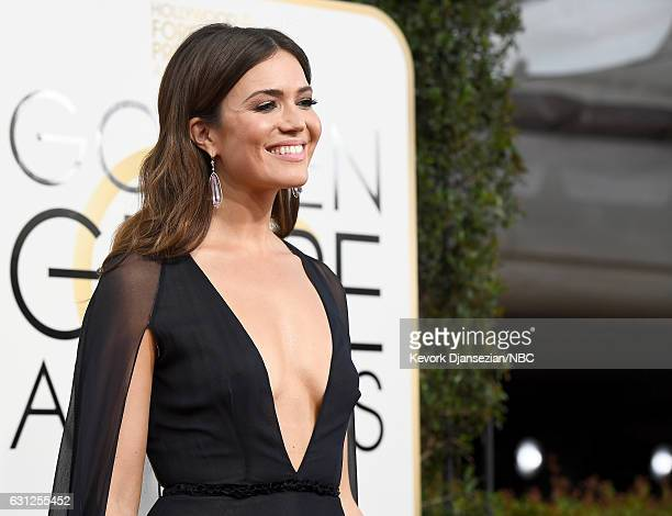 74th ANNUAL GOLDEN GLOBE AWARDS Pictured Singer/actress Mandy Moore arrives to the 74th Annual Golden Globe Awards held at the Beverly Hilton Hotel...