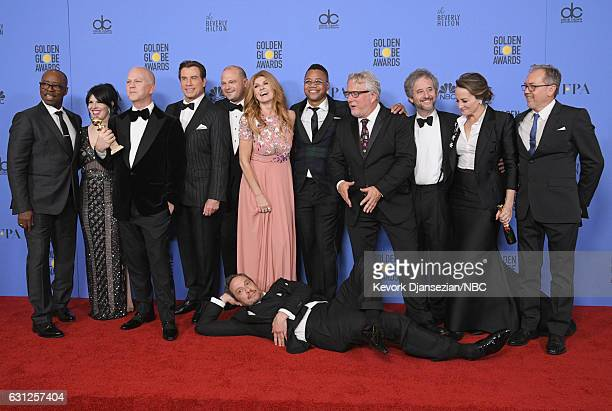 74th ANNUAL GOLDEN GLOBE AWARDS Pictured The cast and producers of 'The People v OJ Simpson' winners of the Best Television Limited Series or Motion...
