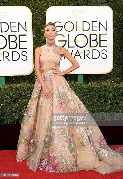 74th ANNUAL GOLDEN GLOBE AWARDS Pictured TV personality Giuliana Rancic arrives to the 74th Annual Golden Globe Awards held at the Beverly Hilton...
