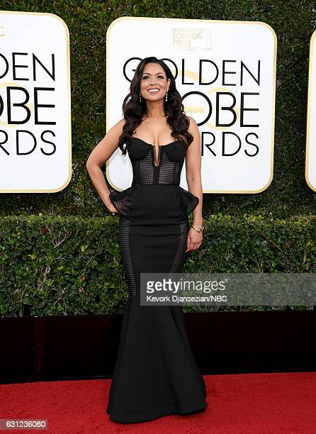 74th ANNUAL GOLDEN GLOBE AWARDS Pictured TV personality Tracey Edmonds arrives to the 74th Annual Golden Globe Awards held at the Beverly Hilton...