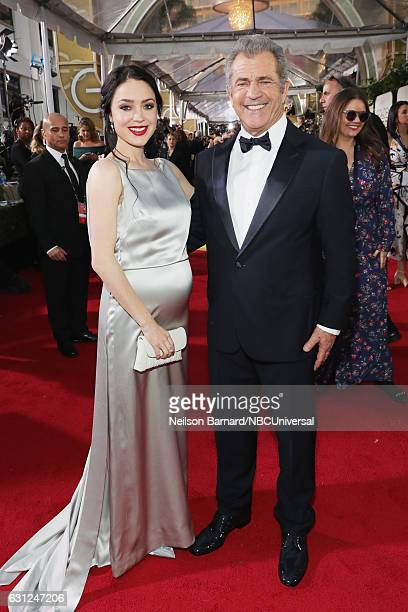 74th ANNUAL GOLDEN GLOBE AWARDS Pictured Writer Rosalind Ross and director/actor Mel Gibson arrive to the 74th Annual Golden Globe Awards held at the...