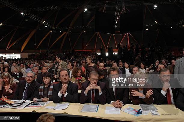 74Th Congress Of Socialist Party In Le Mans Congrès du parti socialiste au Mans Dominique STRAUSSKAHN Martine AUBRY François HOLLANDE LANG Jack...