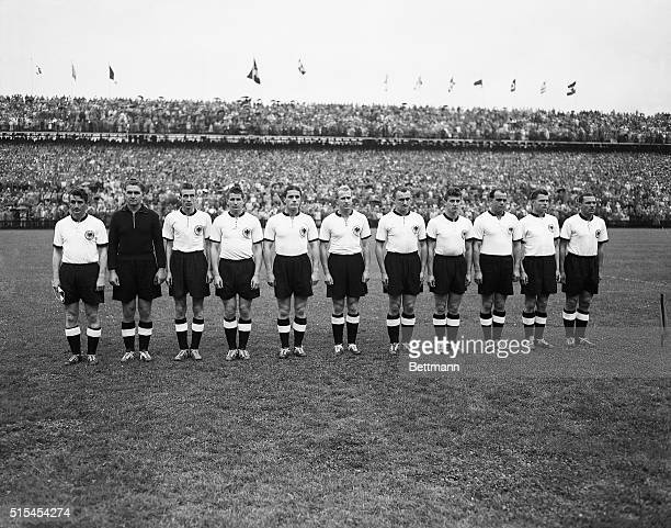 7/5/1954Bern Switzerland This German soccer team won the World Cup Championships by defeating the Hungarian team in the finals 32 From left to right...