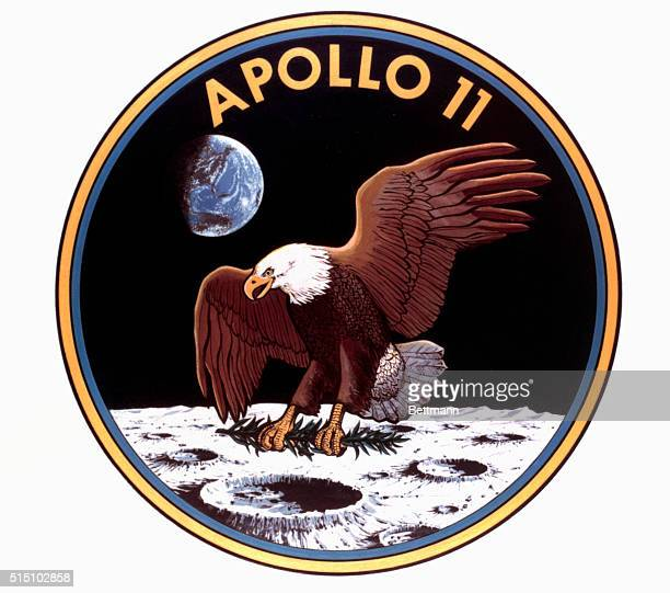 This is the insignia the Apollo 11 astronauts will wear when they blast off from Cape Kennedy July 16th on the first lunar landing mission Astronaut...