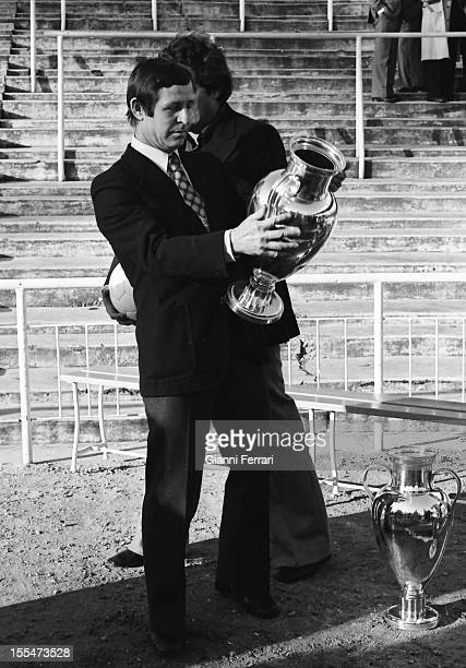 75th Anniversary of Real Madrid: Raymond Kopa, the french soccer player of the Real Madrid whit one European Cup Madrid, Castilla la Mancha, Spain. .