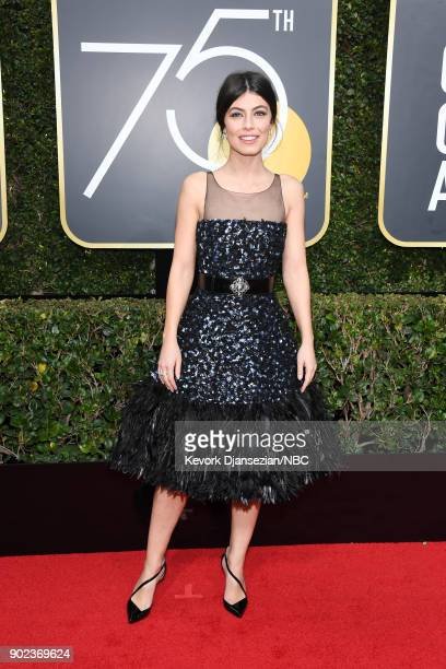 75th ANNUAL GOLDEN GLOBE AWARDS Pictured Actor Alessandra Mastronardi arrives to the 75th Annual Golden Globe Awards held at the Beverly Hilton Hotel...