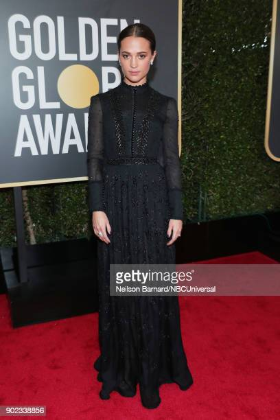 75th ANNUAL GOLDEN GLOBE AWARDS Pictured Actor Alicia Vikander arrives to the 75th Annual Golden Globe Awards held at the Beverly Hilton Hotel on...