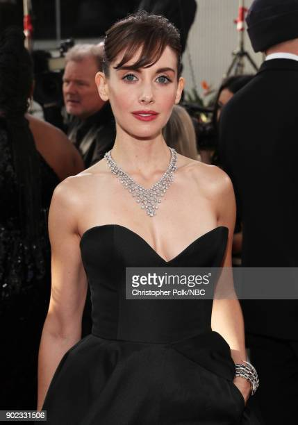 75th ANNUAL GOLDEN GLOBE AWARDS Pictured Actor Alison Brie arrives to the 75th Annual Golden Globe Awards held at the Beverly Hilton Hotel on January...