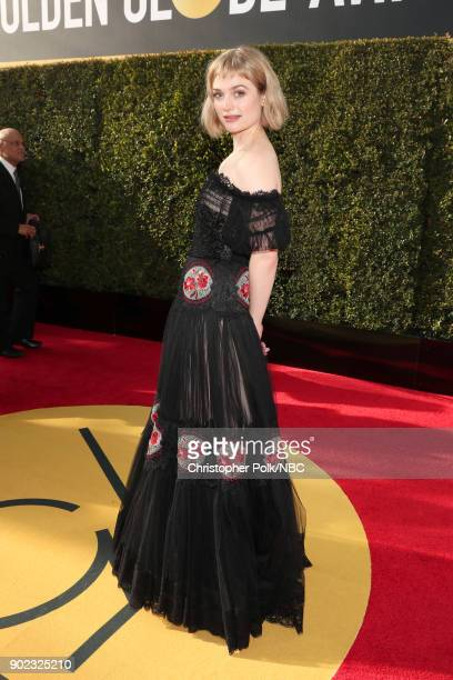75th ANNUAL GOLDEN GLOBE AWARDS Pictured Actor Alison Sudol arrives to the 75th Annual Golden Globe Awards held at the Beverly Hilton Hotel on...