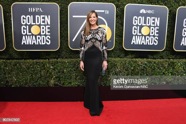75th ANNUAL GOLDEN GLOBE AWARDS Pictured Actor Allison Janney arrives to the 75th Annual Golden Globe Awards held at the Beverly Hilton Hotel on...