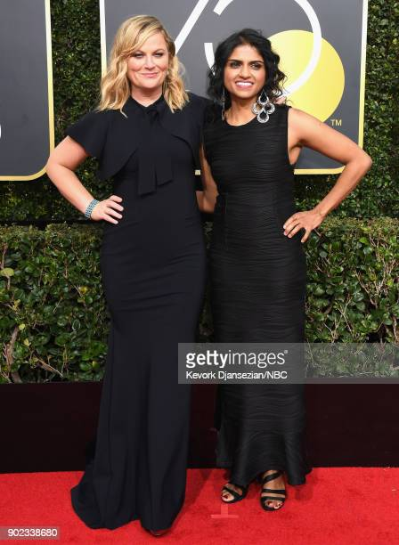 75th ANNUAL GOLDEN GLOBE AWARDS Pictured Actor Amy Poehler arrives to the 75th Annual Golden Globe Awards held at the Beverly Hilton Hotel on January...