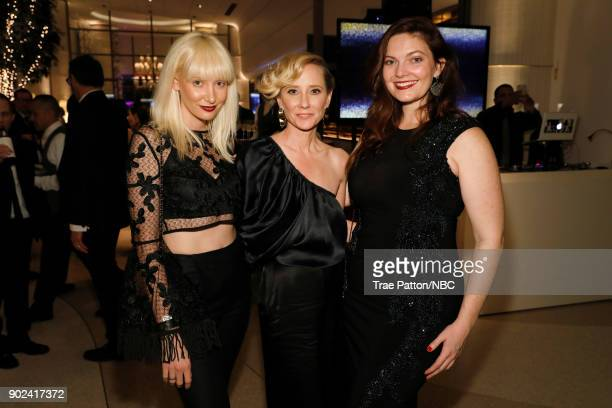 75th ANNUAL GOLDEN GLOBE AWARDS Pictured Actor Anne Heche and guests enjoy NBC and USA Network's postGolden Globe Awards party Sunday January 7 in...
