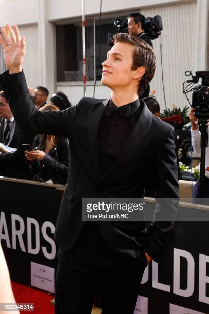 75th ANNUAL GOLDEN GLOBE AWARDS Pictured Actor Ansel Elgort arrives to the 75th Annual Golden Globe Awards held at the Beverly Hilton Hotel on...