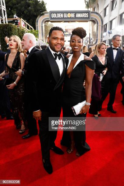 75th ANNUAL GOLDEN GLOBE AWARDS Pictured Actor Anthony Anderson and Alvina Stewart arrive to the 75th Annual Golden Globe Awards held at the Beverly...