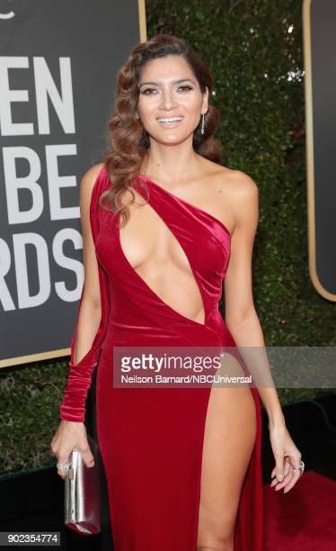 75th ANNUAL GOLDEN GLOBE AWARDS Pictured Actor Blanca Blanco arrives to the 75th Annual Golden Globe Awards held at the Beverly Hilton Hotel on...