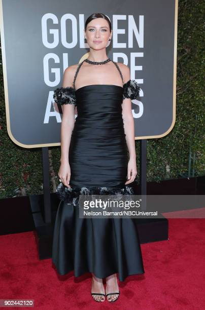 75th ANNUAL GOLDEN GLOBE AWARDS Pictured Actor Caitriona Balfe arrives to the 75th Annual Golden Globe Awards held at the Beverly Hilton Hotel on...