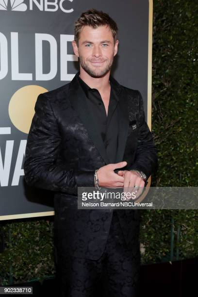 75th ANNUAL GOLDEN GLOBE AWARDS Pictured Actor Chris Hemsworth arrives to the 75th Annual Golden Globe Awards held at the Beverly Hilton Hotel on...