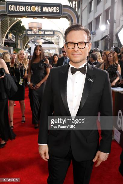75th ANNUAL GOLDEN GLOBE AWARDS Pictured Actor Christian Slater arrives to the 75th Annual Golden Globe Awards held at the Beverly Hilton Hotel on...