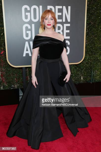 75th ANNUAL GOLDEN GLOBE AWARDS Pictured Actor Christina Hendricks arrives to the 75th Annual Golden Globe Awards held at the Beverly Hilton Hotel on...