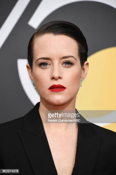 75th ANNUAL GOLDEN GLOBE AWARDS Pictured Actor Claire Foy arrives to the 75th Annual Golden Globe Awards held at the Beverly Hilton Hotel on January...