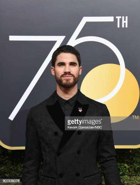 75th ANNUAL GOLDEN GLOBE AWARDS Pictured Actor Darren Criss arrives to the 75th Annual Golden Globe Awards held at the Beverly Hilton Hotel on...
