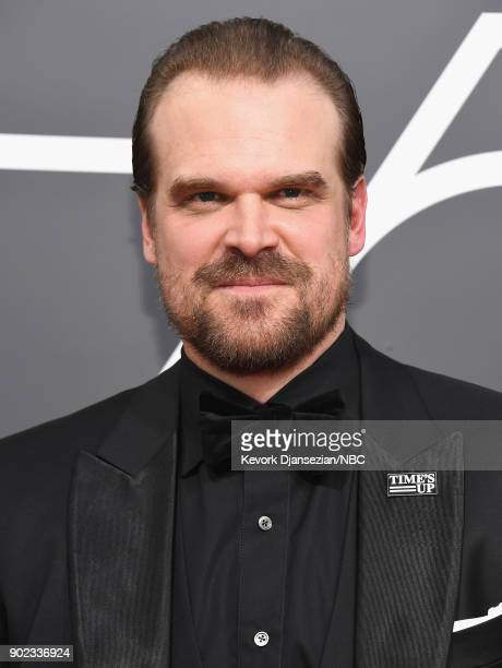 75th ANNUAL GOLDEN GLOBE AWARDS Pictured Actor David Harbour arrives to the 75th Annual Golden Globe Awards held at the Beverly Hilton Hotel on...