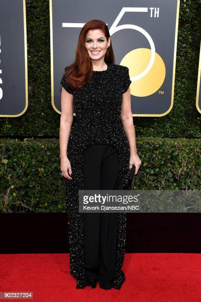 75th ANNUAL GOLDEN GLOBE AWARDS Pictured Actor Debra Messing arrives to the 75th Annual Golden Globe Awards held at the Beverly Hilton Hotel on...