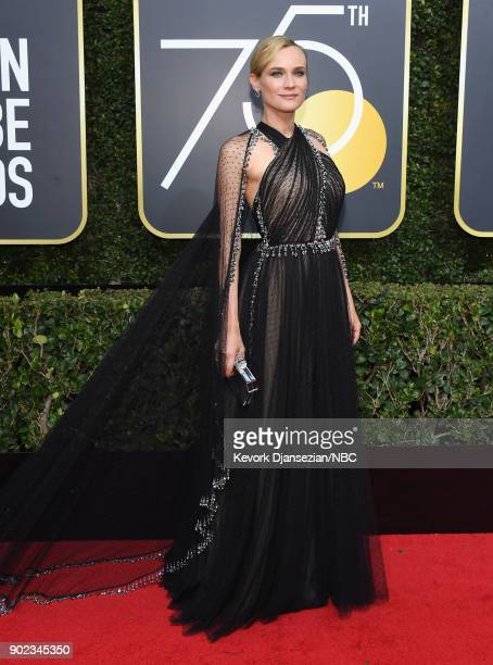 75th ANNUAL GOLDEN GLOBE AWARDS Pictured Actor Diane Kruger arrives to the 75th Annual Golden Globe Awards held at the Beverly Hilton Hotel on...
